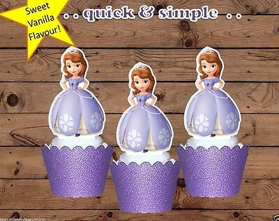 Sofia the First princess XL EDIBLE wafer cupcake cake toppers STAND UP 6