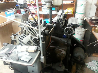 Heidelberg Platen Press, year 54 will call only, original owner church