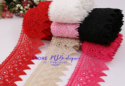 FP83 1 Yards Lace Trim Ribbon For Dress Skirt Veil Embroidered DIY Sewing Craft