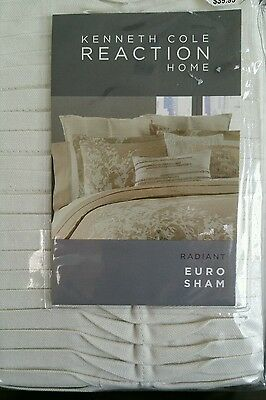 New! Kenneth Cole Reaction Radiant  Euro Pillow Sham- Gold