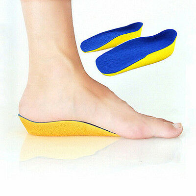 New  1 Pair Height Increasing Heel Lift Half Insoles In Sock Pad 2cm High