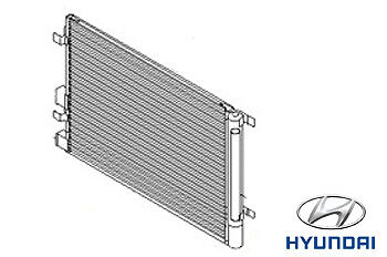 Genuine Hyundai i20 Air Conditioning Condenser Radiator Cooler - 976061J010