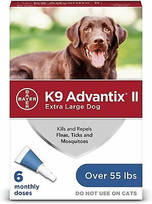 K9 Advantix II for  Extra Large Dogs over 55 lbs - 6 Pack - FREE Shipping!