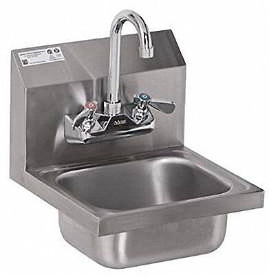 ACE Ultra Space Saver Wall Mount Stainless Steel Hand Sink with No Lead Faucet a