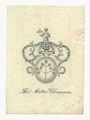 Bookplate of Thos. Mutter Cleemann