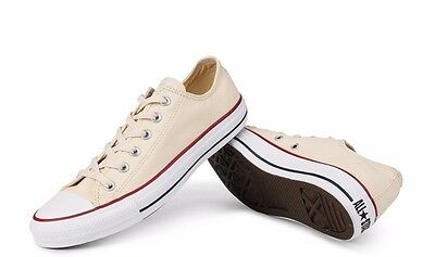 cea01240195ce4 Converse Chuck Taylor All Star Unbleached White Low Top OX M9165 Canvas New  wBox