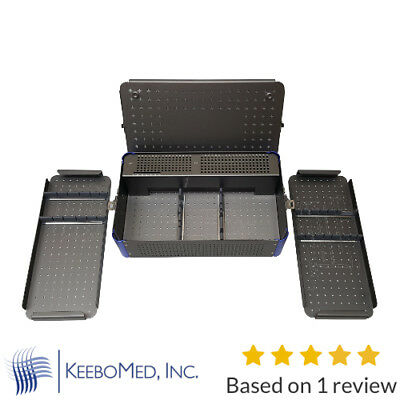 Orthopedic Instrument Empty Case, trays & rack for 3.5-4.0 mm screws - Keebomed