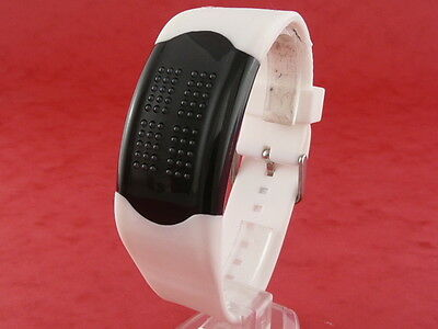 RED MATRIX Space Age TOUCH SCREEN LED Digital Watch 70s Vintage Retro starck b