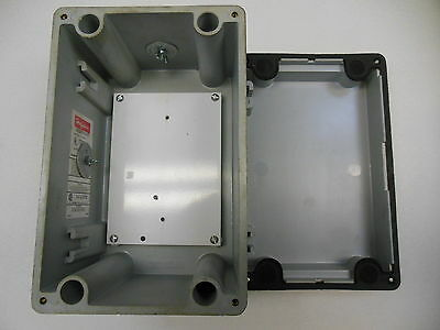 Hoffman A-1066JFG, NEMA Type 4 Enclosure w/Oiltight Knockout Covers