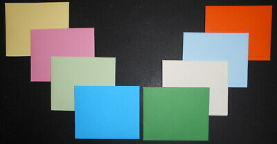 HANDMADE MINI COLOURED ENVELOPES - Packof 10 -80mm x 100mm*