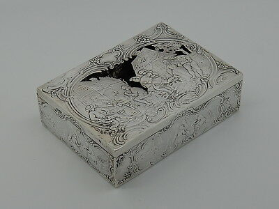 Antique German imported solid silver box London 1880-1910 – B Muller & Son 203gs