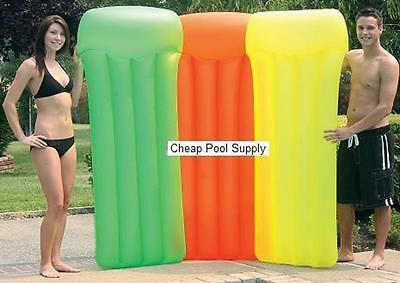 Pool Master Inflatable Neon Frost Pool 33 x 75 Air Mattress ORANGE