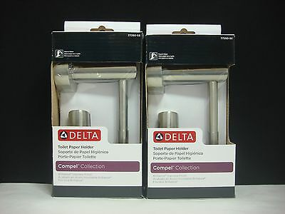 2 DELTA Compel Toilet Paper Holder Brilliance Stainless Finish No. 77250-SS