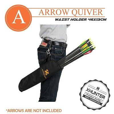Xhunter Arrow Quiver Waist Clip Archery Bow Bag Holds 12 Arrows Storage Pouch