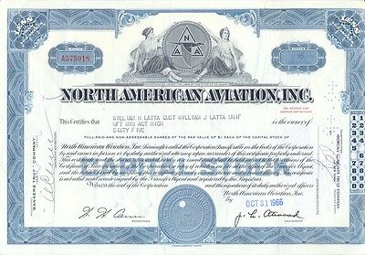 USA Amerika North Americna Aviation alte Aktie 1966 Luftfahrt dekorativ