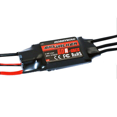 Hobbywing SKYWALKER 60A 2-6S Brushless ESC With UBEC for RC Trex500 ACCS New B