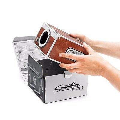 Smartphone Projector 2.0 Cinema In A Box Preassembled Fits Iphones Luckies in UK