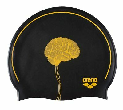 NEW Arena Silicone Poolish Swim Cap - Brain/Black from Ezi Sports Store