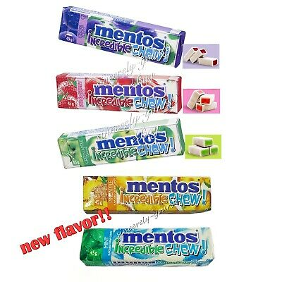 Mentos Incredible Chew Chewy Candy Fruity Bouncy 11 Pieces/pack Free shipping