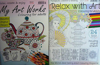 My Art Works or Relax with Art Adult Colouring Books. Original Designs to Relax