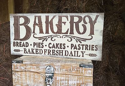 "Large Rustic Wood Sign - ""Bakery…."" Kitchen Decor, Fixer Upper"