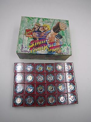 Street Fighter II Turbo Characo Badge Spinning Top Spin Fighters Full Set of 24
