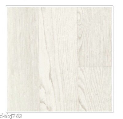 Ivory White Vinyl Cushion Flooring Rhinofloor Planks Lino - 2M Width Light Wood