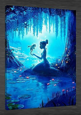 Oil Painting HD Print on Canvas Art Decor,Disney Princess and The Frog 24X36inch