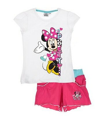Disney Minnie Mouse T-Shirt and Shorts Outfit Set White