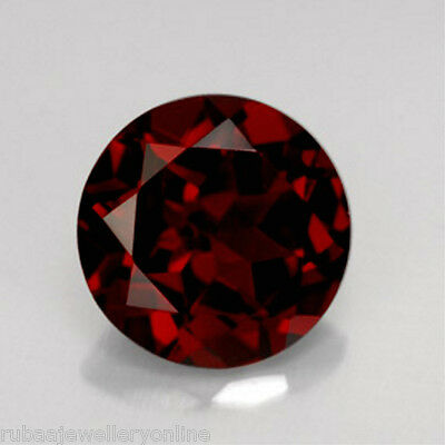 4mm / 5mm / 6mm ROUND FACETED GENUINE MOZAMBIQUE GARNET LOOSE GEMSTONE