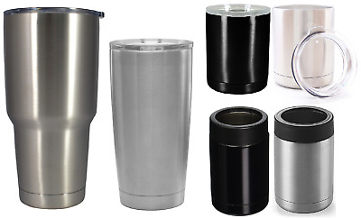 Double Wall Vacuum INSULATED TUMBLERS/COOLERS Stainless Steel Mug/Cool Cups!