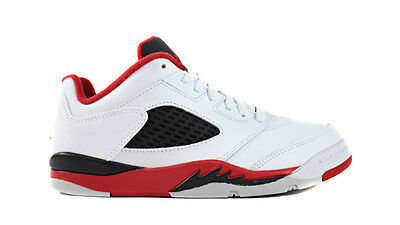 "Nike Jordan Retro 5 Low ""Fire Red"" (PS) Shoes NEW AUTHENTIC Red Black 314339-101"