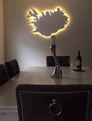 Iceland plate wall decor LED light souvenir