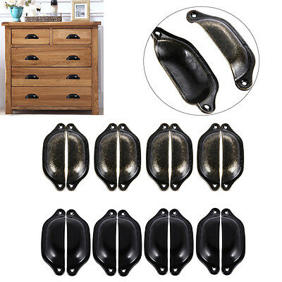 8Pcs Kitchen Cupboard Door Cabinet Nickel Cup Drawer Furniture Shell Pull Handle