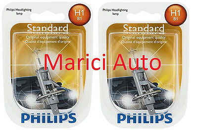 2x PHILIPS H1 High Quality Light Bulb Halogen Beam 12258 OEM Headlight Headlamp