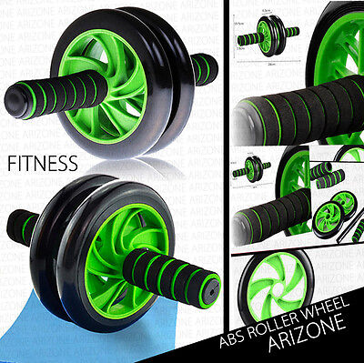 2016 Abs Workout Wheel Roller Fitness Gym Exercise Strength Training + Knee pad