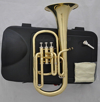 High Quality JINBAO 3 Piston Eb Gold lacquer Alto Horn with Case Mouthpiece etc