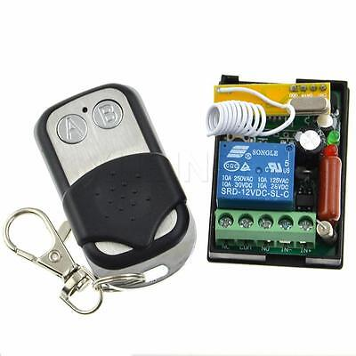 AC 220V 1 CH Wireless Remote Control Switch Metal Relay Receiver Learning Code