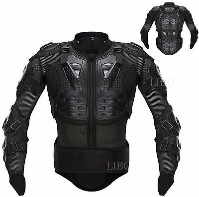 Hot Motorcycle Racing Full Body Armor Leather Jacket Spine Chest Protection Gear