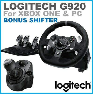 -Logitech G920 Driving Force Racing Wheel Pedals & Shifter for XBOX ONE & PC