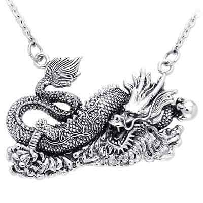 Chinese Dragon .925 Sterling Silver Necklace by Peter Stone