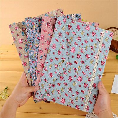Floral A4 File Folder Document Bag Pouch Brief Case Office Book Holder Organizer