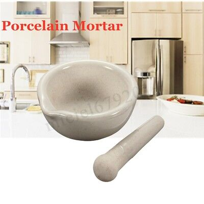 6ml Mini Porcelain Mortar and Pestle Mixing Grinding Bowl Set Crusher DIY Tool