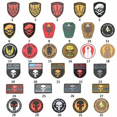 Fashion Punisher Skull Swat Army Military Tactical Morale Badge Patch Multicolor