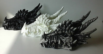 Dragon Head Skull Fossil Decorative Horror Figurine wall hanger or shelf sitter