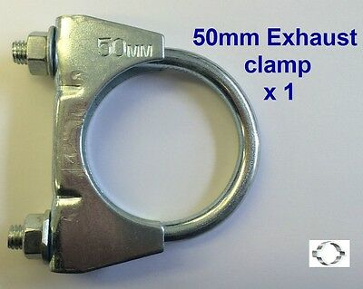 EXHAUST CLAMP, U BOLT 50mm (2 inch) Single clamp
