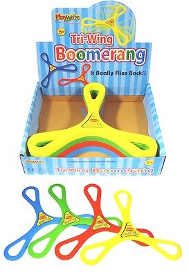 1 2 4 12 Tri-Wing Boomerang - It Really Flies Back - Out Door Toys - Flying Toy