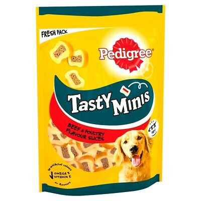 Pedigree Tasty Bites Dog Treats Chewy Slices with Beef 155g