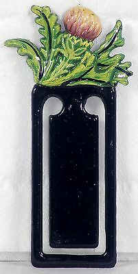 Flower Book Mark - Useful Gift - Scottish Thistle Flower - Set Of 12