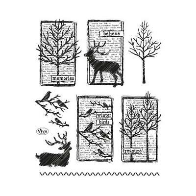 Viva Decor A5 Clear Silicone Stamps Set - Winter Impressions #148
